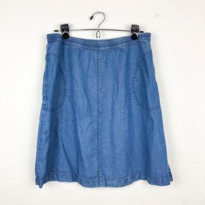 J. Jill Skirts - J. Jill Denim Skirt with Pockets